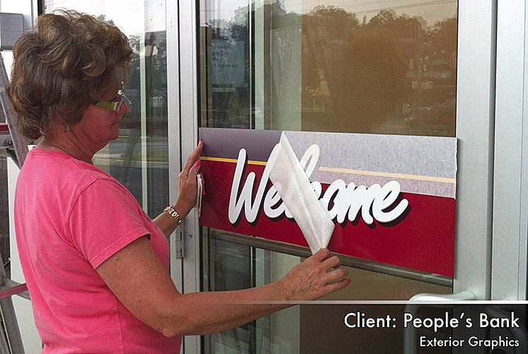 Peoples Bank Window Cling