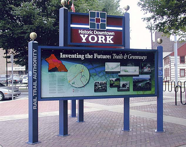 York Trails and Greenways Sign
