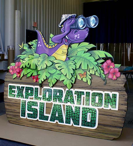 Exploration Island Sign