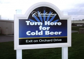 Chambersburg Beverage Sign