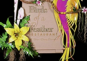 Birds of a Feather Restaurant Sign